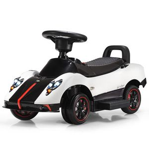 2-In-1 Electric Kids Ride On Push Around Car-White for Sale in Chino, CA