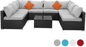 (4 colors) Brand New 9 Pcs Wicker Patio Furniture Sectional Sofa Set for Sale in Fullerton, CA