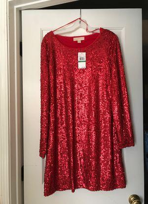 Long sleeve Michael Kors red dress for Sale in Kennesaw, GA