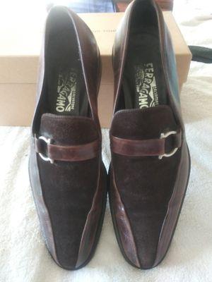 MEN'S SIZE (8.5) **SALVATORE FERRAGAMO** BROWN (SUEDE ON LEATHER) SLIP ON DRESS SHOE for Sale in Oakland, CA