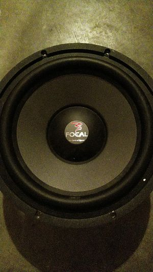 2 focal 12 inch subs and ported box. for Sale in Arlington, WA