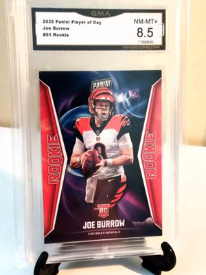 Joe Burrow Panini Player of the day Rookie! Graded 8.5!! BENGALS NFL for Sale in Delray Beach, FL