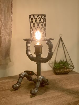 Handmade Steampunk Man With a Hat Table/Desk Lamp for Sale in Cumming, GA