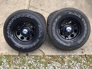 Pathfinder A/T tires & Cragar rims for Sale in Sunbury, OH