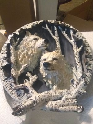 Wolf plate for Sale in Houston, TX