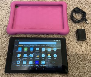 "Kindle Fire HD 8"" 32GB Tablet with Pink Kid-proof case for Sale in Issaquah, WA"