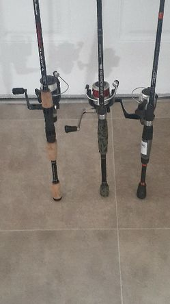 Three fishing poles with reels all working for Sale in Rancho Cordova,  CA