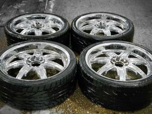 4 20 in 5x110 5x114.3 devino wheels rims tires for Sale in Rockville, MD