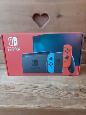 Negotiable Nintendo Switch 32GB Console with Red/Blue Joycons for Sale in Panola, IL