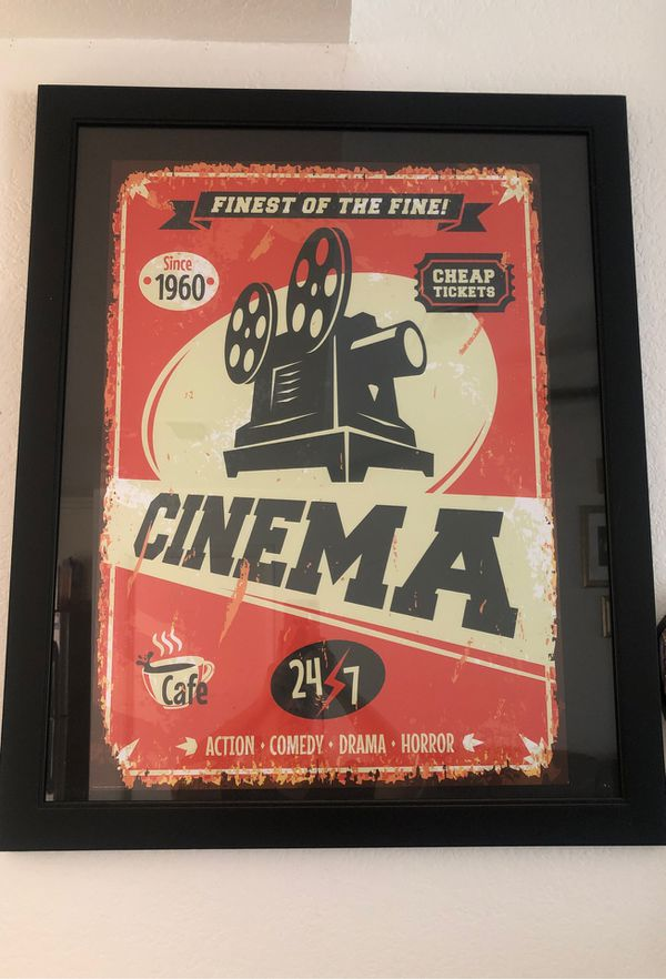 Theater poster with frame