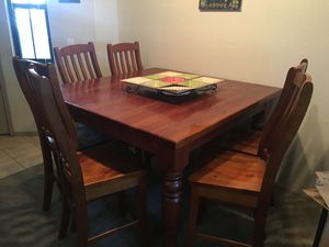 Rustic Wood Dining Table for Sale in Tempe, AZ