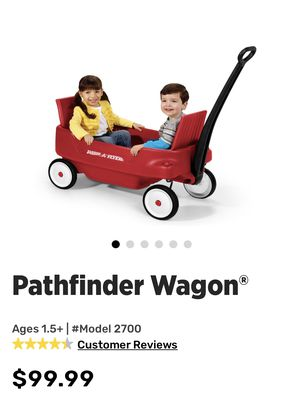 Radio flyer wagon with 2 seats red stroller for Sale in Arlington, TX