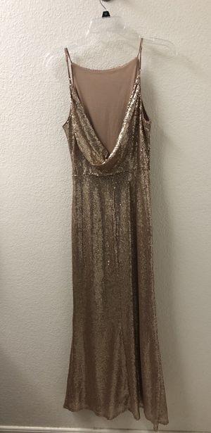 Chic Celebration Champagne Sequin Mermaid Maxi Dress for Sale in Benicia, CA
