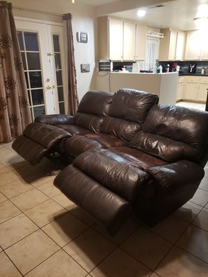 Leather recliner couch free for Sale in Escondido, CA