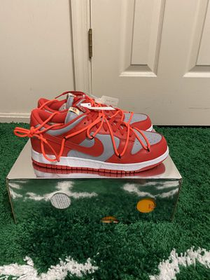BRAND NEW NIKE DUNK LOW OFF WHITE UNIVERSITY RED SIZE 9.5 LIMITED for Sale in Fort Washington, MD