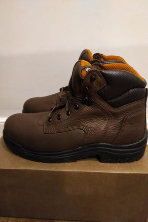 "TIMBERLAND PRO TITAN 6"" SAFETY TOE LEATHER WORK BOOTS 26063 14 W Men for Sale in Boston, MA"