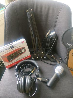 Studio Bundle: Mic + Headphones + Mic + Audio Interface for Sale in Chicago, IL