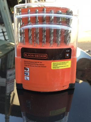 New Black and Decker 18 pieces drill bit set for Sale in Annandale, VA