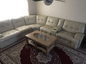 Sectional leather couch from Value City for Sale in Pittsburgh, PA