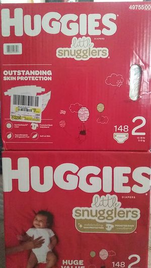 2 cases Huggies size 2. for Sale in Las Vegas, NV