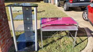 Desk and Entertainment stand for Sale in Midlothian, TX