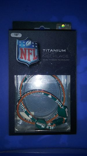 "18"" Titanium Miami dolphins necklace for Sale in Thonotosassa, FL"