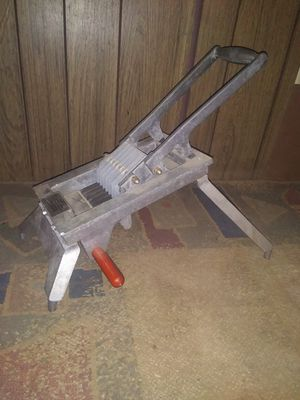 Commercial onion slicer. Onion King slicer Lincoln Redco world's best and simplest onion slicer for Sale in Mesa, AZ