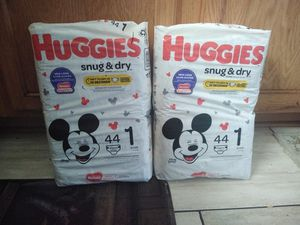 Brand new Huggies Size 1 count 44 for Sale in Pflugerville, TX