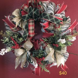 Christmas wreath for Sale in Lakewood, CA