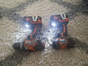 Ridgid X4 Impact Driver & Fuego Drill PowerTool Set R86034 R86008 Only batteries and drills not charger. for Sale in Las Vegas, NV