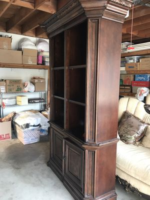 Wood Bookshelves $175 each , $300 BOTH elegant book cases HEAVY DUTY and hutches for Sale in Bakersfield, CA