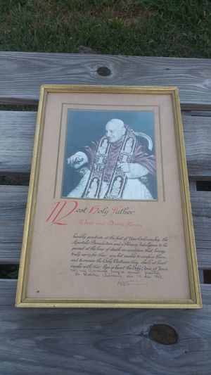 Vintage 1959 Papal Plenary Indulgence *30.00 Firm** Pope John 23rd for Sale in Orlando, FL