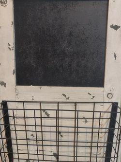 Chalkboard Memo Board Basket. Make Offer for Sale in Woodstock,  GA