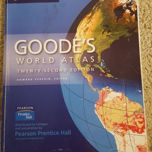 Goode's World Atlas 22nd ed by Rand McNally for Sale in Lynnwood, WA