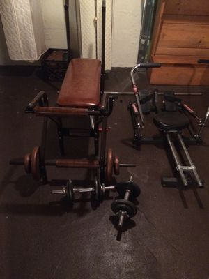 WeightBench weights and rowing machine for Sale in Syosset, NY