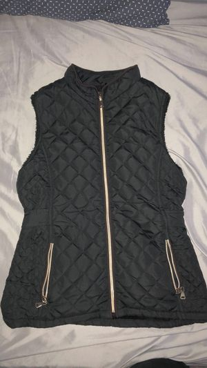Woman black vest jacket for Sale in Dallas, TX