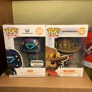 Funko pop games overwatch Ana amazon exclusive and McCree for Sale in Sacramento, CA