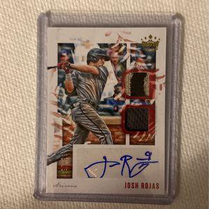 2020 Josh Rojas Panini Diamond Kings Baseball Dual Patch / Auto Card (97/99 ) for Sale in Norwalk, OH