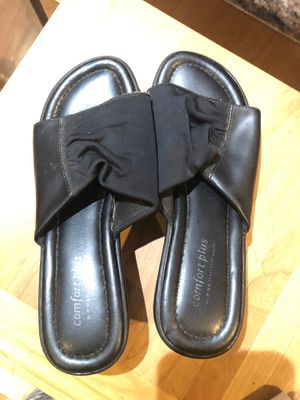Black leather with soft fabric comfort plus size 5W for Sale in Downey, CA