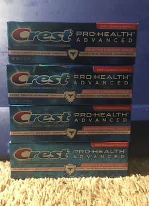 Crest toothpaste sensitive for Sale in Weymouth, MA