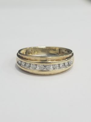 Yellow Gold Diamond ring mens band Wedding Bridal Christmas gift special for Sale in Richmond, TX