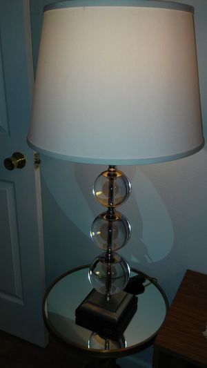 Crystal Lamp with switch for Sale in St. Louis, MO
