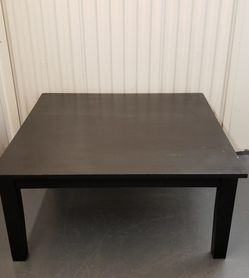 Square Black Wood Coffee Table for Sale in Orlando,  FL