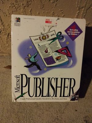 microsoft publisher 1993 for Sale in St. Petersburg, FL