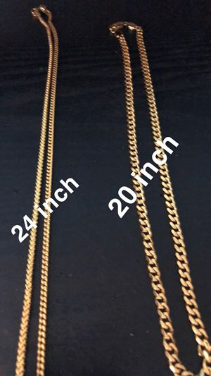 Sterling Silver Gold Chains for Sale in Henderson, NV
