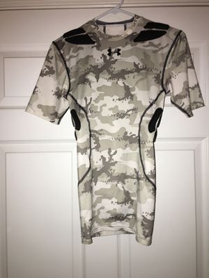 Under Armour Camo Padded Contact Sport Shirt, Small, $10 for Sale in Marietta, GA
