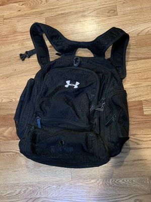 Black Under Armour backpack, with fold out storage for Sale in Golden, CO