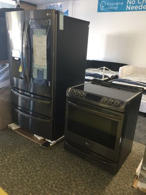 LG Set brand New black Stainless Steel With Chosecase With Warranty No Credit Needed Just $54 The Down Payment Cash Price $4,000 for Sale in Garland, TX