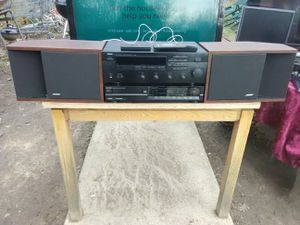 300 Watts Yamaha receiver with remote control and Sharp CD player with remote control plus Bose 201 speakers for Sale in Washington, DC
