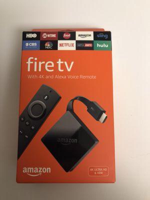 Unlocked Fire TV Box 4K HD with Alexa Voice for Sale in Braintree, MA